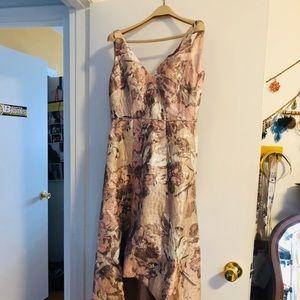 Aidan Mattox high low floral dress